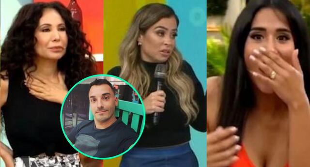 Milena Zárate se presentó en América Hoy tras la pelea con Santi Lesmes, y las conductoras sacaron cara por él, lo que los cibernautas reprocharon.