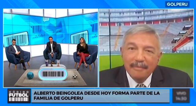 Alberto Beingolea estará nuevamente en la televisión peruana en el canal del fútbol.