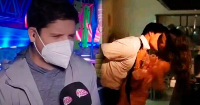 Gian Piero Díaz tuvo divertido comentario sobre el beso de ambos chicos reality.