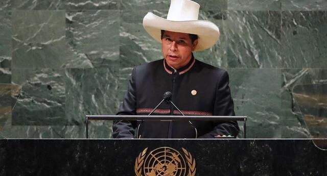 """Pedro Castillo ante la ONU: """"Condenamos y rechazamos el terrorismo en todas sus formas"""""""