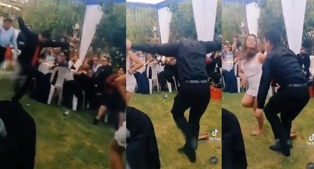 Llamativo baile de los jóvenes se hizo viral en las redes sociales.