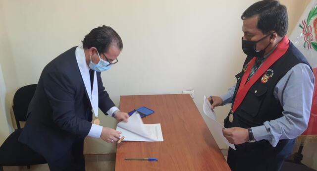 Poder Judicial y autoridades de Cutervo firman acta de instalación del Botón de Pánico