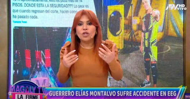 Magaly Medina se indignó por los fuertes dolores de Elías Montalvo.