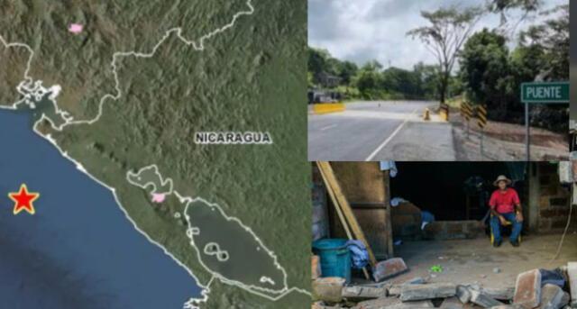 Hubo réplicas tras sismo en Nicaragua.