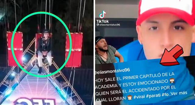 Elías Montalvo compartió Tiktok antes del accidente.