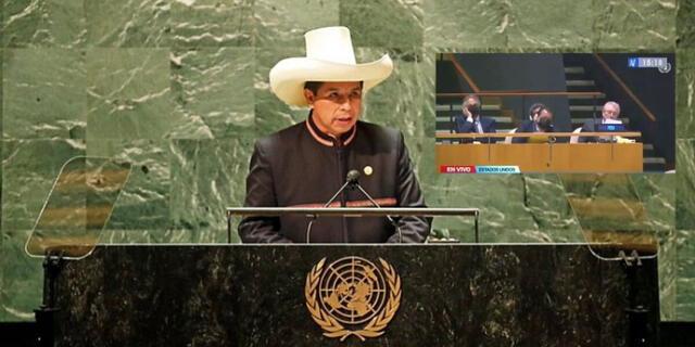 Mal. Secretario de Palacio de Gobierno se quedó dormido durante discurso de Pedro Castillo en la ONU.