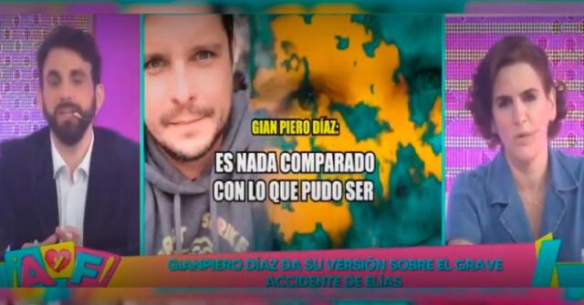 Gian Piero Díaz dio su descargo y versión de los hechos tras grave accidente de Elías Montalvo.