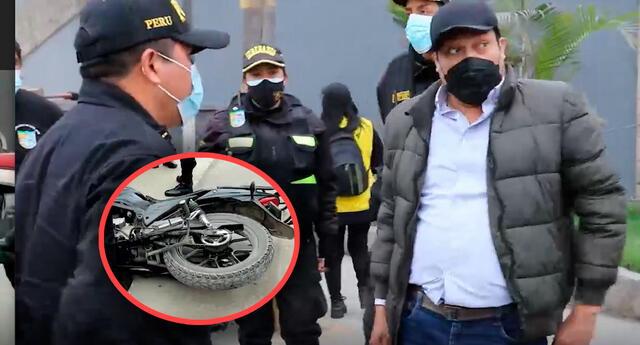 Según pudo verificar la Policía Nacional, la moto, de placa 8946 IA está registrada a nombre de José Llamoctanta Tarillo, cuyo domicilio queda en SJL.