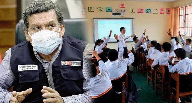 Hernando Cevallos reveló que junto al Minedu están elaborando las medidas que se aplicaran para que los escolares puedan retornar a las aulas.c
