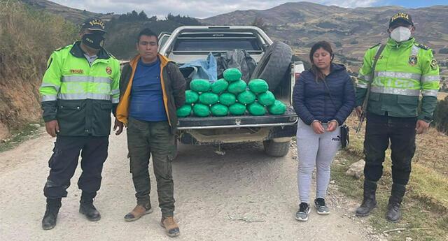 Los detenidos fueron conducidos a Trujillo.