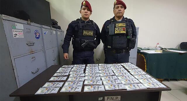 Policía llevó el dinero encontrado a la comisaría de Chacra Colorado.