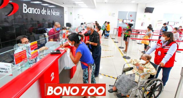 El Bono 700 se da para apoyar a los peruanos más vulnerables económicamente en esta pandemia.