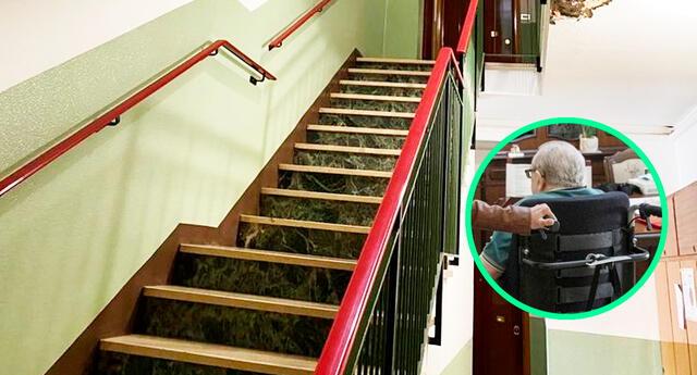 El adulto mayor no puede convencer a un habitante del edificio para que instalen un ascensor, para salir de su casa.