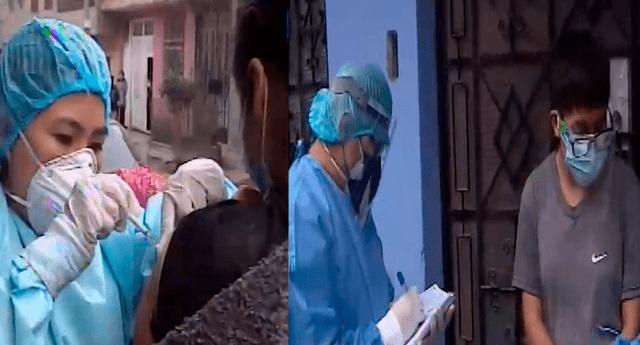 Vacunan casa por casa a mayores de 18 años contra la COVID-19