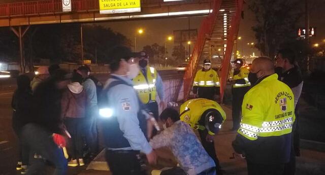 Sujeto fue detenido tras una persecución por policías y serenos