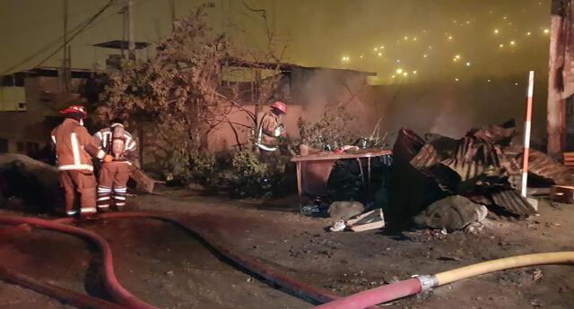 voraz incendio deja damnificada a varias familias