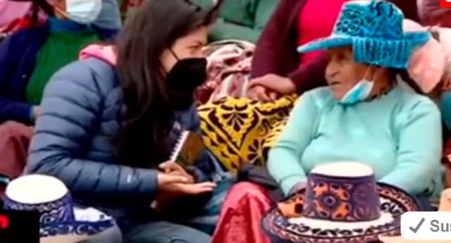 La reportera entrevistó a la mamá de Guido Bellido, pero con ayuda porque no sabía quechua.