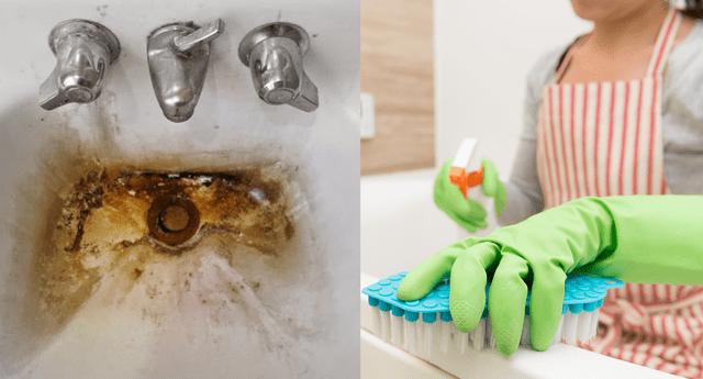 Con ingredientes caseros como el bicarbonato de sodio o el vinagre puedes eliminar la suciedad acumulada en la ducha.