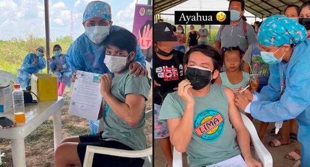 La Uchulú compartió su experiencia al recibir la primera dosis.