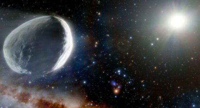 Ilustración del cometa C/2014 UN271 o Bernardinelli-Bernstein.