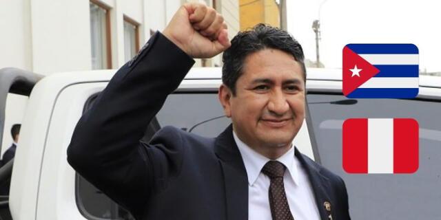 El secretario general de Perú Libre aplaudió a Cuba por su avance en el esquema de vacunación contra el coronavirus.