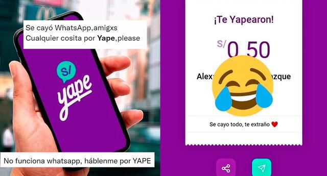 Preocupados por la caída masiva de las redes sociales, usuarios resolvieron comunicarse por Yape.