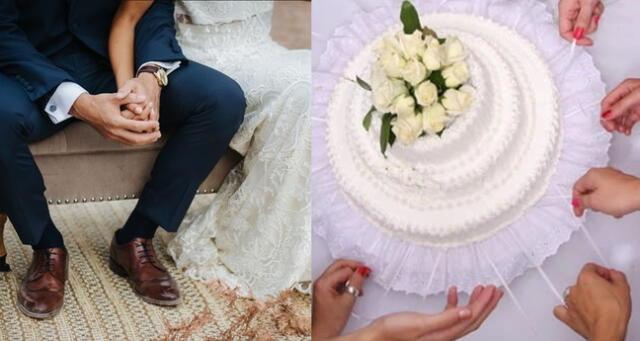 La pareja fue criticada por cobrar dinero a sus invitados por una porción de torta.