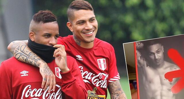Jefferson Farfán, delantero de la selección peruana, llamó la atención en las redes sociales.