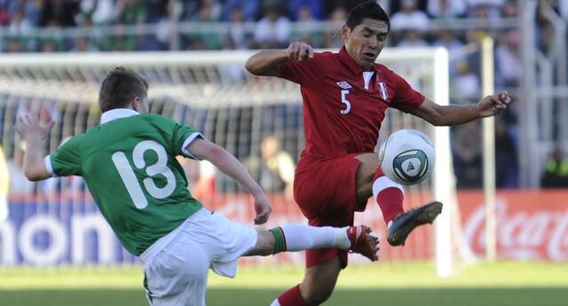 Joel Sánchez fue un baluarte del empate de Perú 1-1 con  Bolivia el 2012.