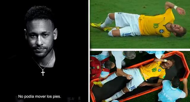 Neymar lamentó haber quedado fuera del Mundial que su país organizó.