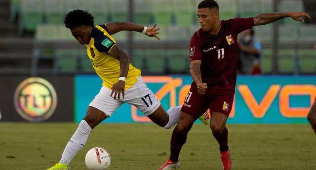 Venezuela ganó con goles de Machis y Bello a Ecuador.