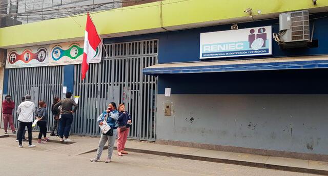 Oficinas del Reniec que atienden HOY lunes 11 de octubre.