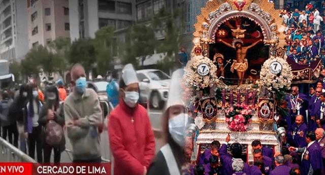 Fieles acudieron al Santuario de las Nazarenas para visitar la imagen del Señor de los Milagros