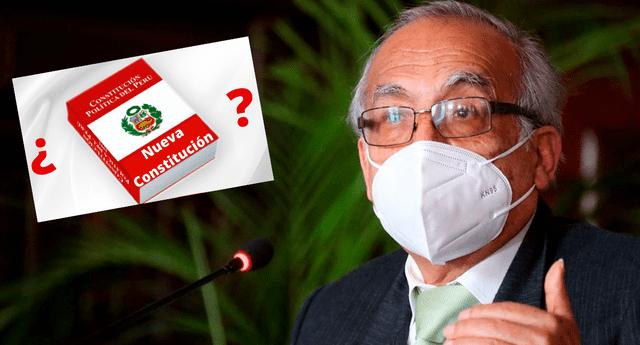 Aníbal Torres indicó que quienes deciden sobre una constitución son los ciudadanos