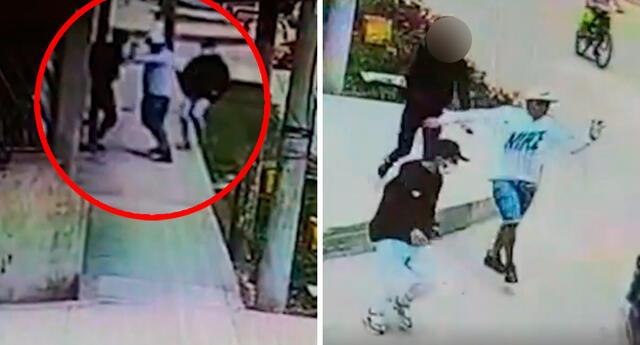Joven no dudó en enfrentarse a golpes con dos delincuentes para evitar el robo de su celular.