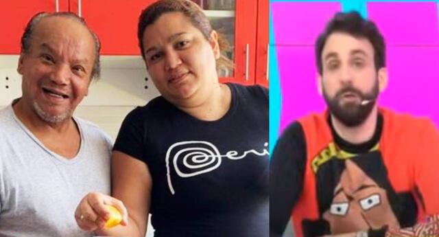 Esposa de Melcochita se enfureció con Rodrigo González por desatinado comentario.