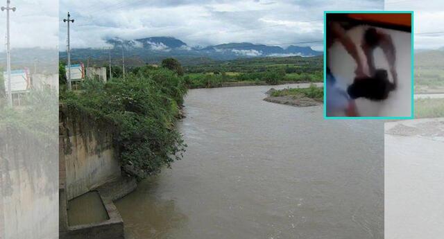 Perrito es lanzado al río Utcubamba, en Amazonas.