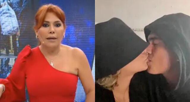 Magaly Medina se mostró indignada al ver imágenes de la reconciliación de Paula Arias y Eduardo Rabanal, y aprovechó en mandar un fuerte mensaje EN VIVO.