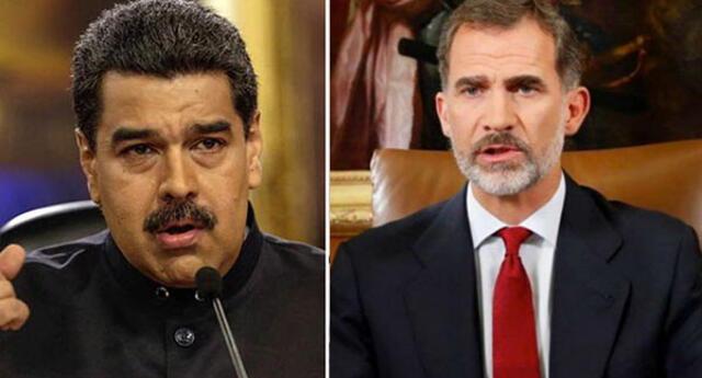 Maduro al rey Felipe: Es una ofensa para América que aún celebre la llegada de Colón. Foto: AFP