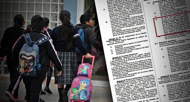 Perú Libre busca anular la Reforma Magisterial y reemplazarlo por la Nueva Ley del Profesorado.