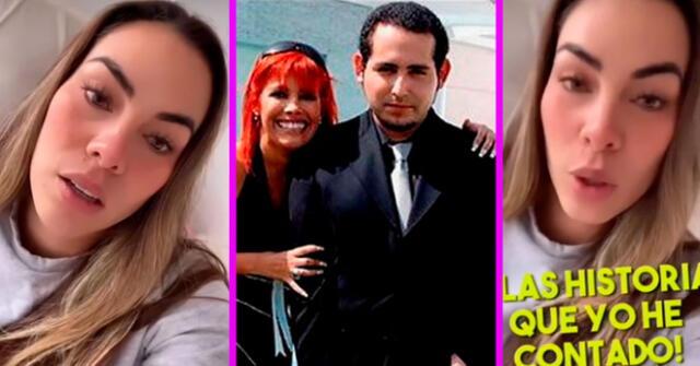 Aída Martínez respondió en sus stories de Instagram que nunca dijo el nombre completo de Magaly Medina.
