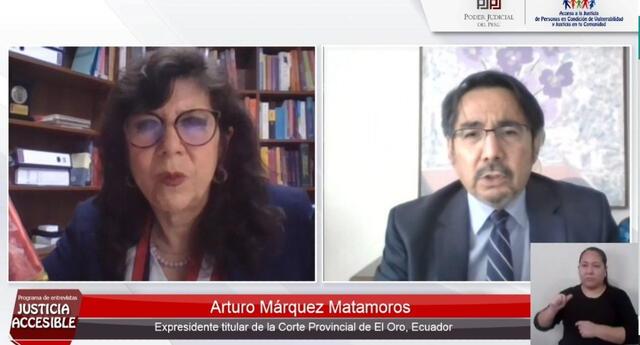 Durante el programa Justicia Accesible, juez de Ecuador Arturo Márquez Matamoros habló sobre la trata de personas