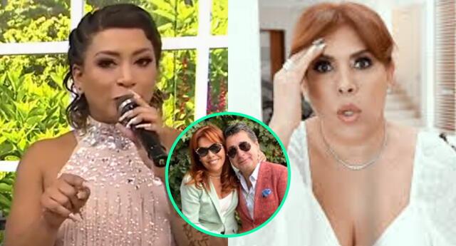 Paula Arias dejó entrever que Alfredo Zambrano le habría sido infiel a Magaly Medina, por lo que ella sacó su comunicado EN VIVO, pero luego lo perdonó.