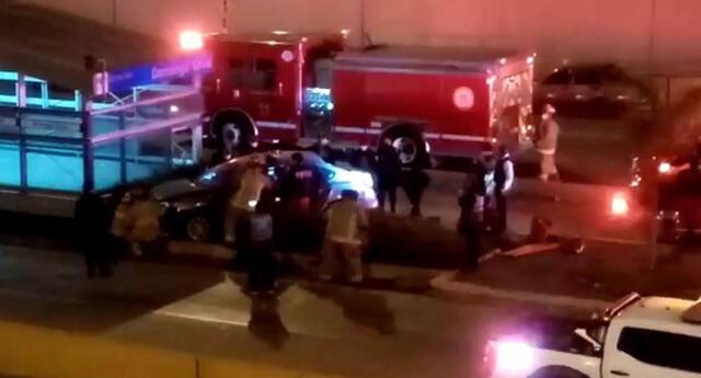 Un herido dejó como saldo el despiste de un vehículo contra estación Domingo Orué.