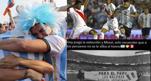 La publicación de hinchas argentinos se volvió viral en las redes sociales.