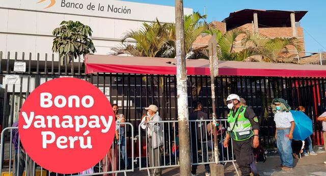 El Bono Yanapay se entrega en función a los grupos beneficiarios.