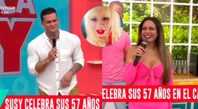 Christian Domínguez pasa 'roche' al confundir cumpleaños de Susy Díaz.